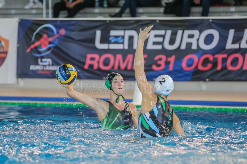 Waterpolo EuroLeague Women Championship ZV De Zaan vs Exile SG arkivbilder
