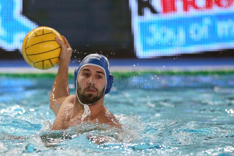 Waterpolo International Teams International Quadrangular - Hungary vs Greece. Konstantinos kakaris (greece) during International Quadrangular - Hungary vs Greece stock image