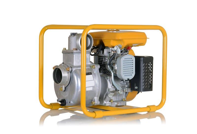 Waterpomp met benzinemotor stock afbeeldingen