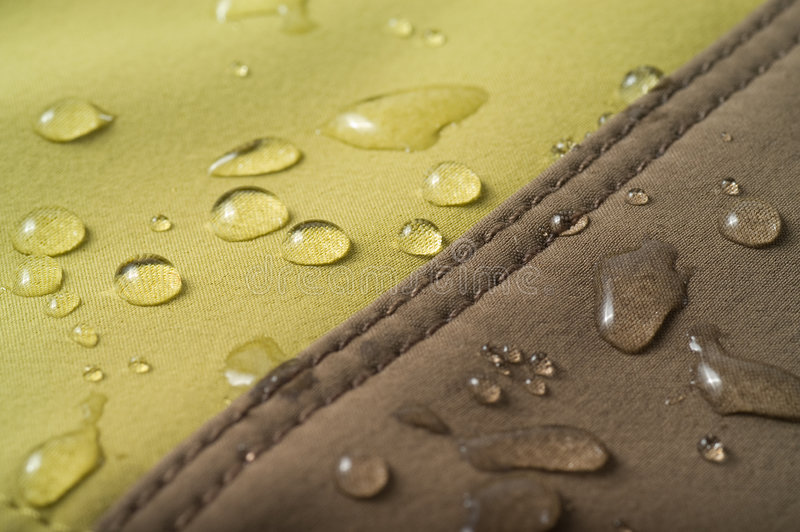 The waterproof fabric royalty free stock image