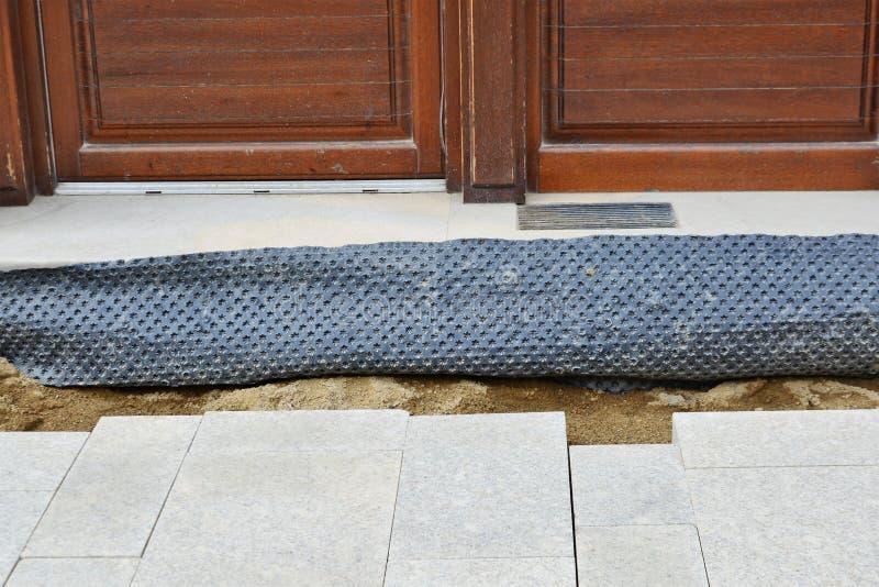 Waterproofing błona ochraniać podstawy i podłoga obrazy royalty free