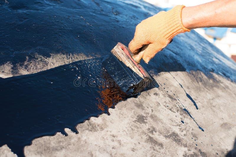 Waterproofing för arbetardanande arkivbild