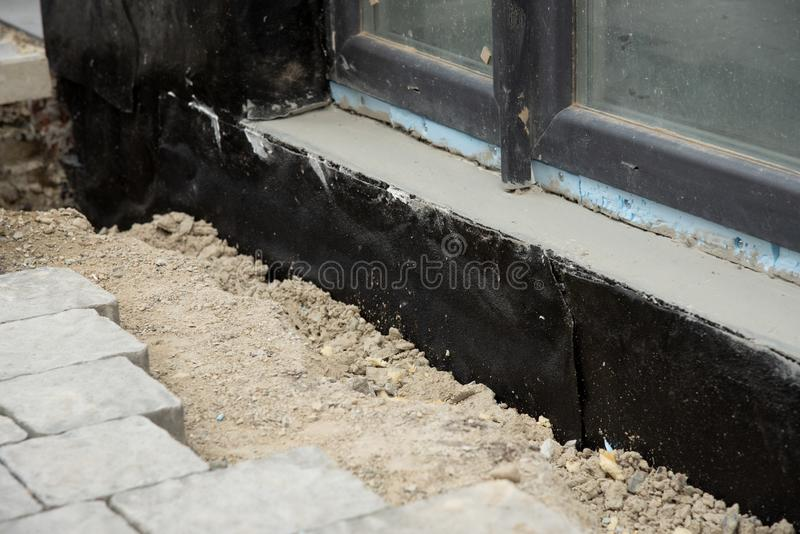 concrete foundation with insulation material stock photo image of architecture site 71710172
