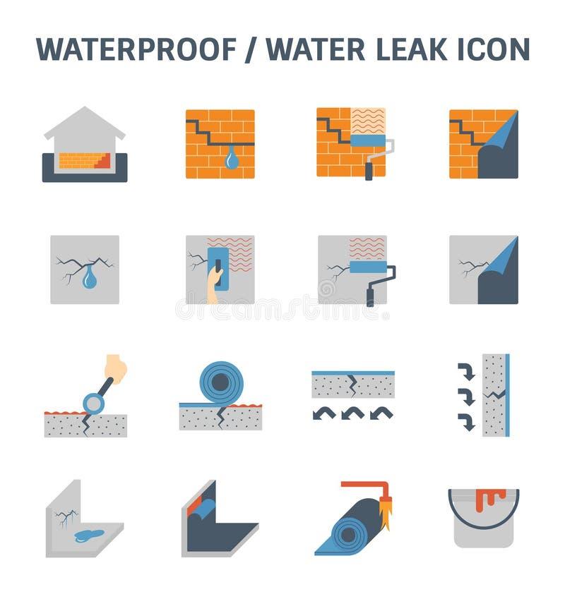 Waterproofing wodny przeciek ilustracji
