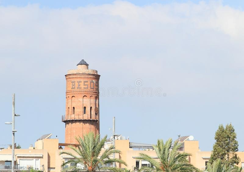 Waterreservoir in Barcelona royalty-vrije stock foto