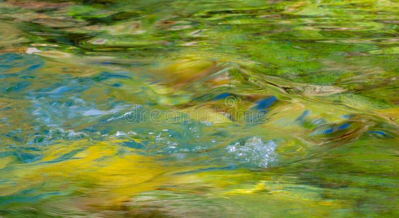 Waterrimpelingen in duidelijke, rotsachtige rivier royalty-vrije stock fotografie
