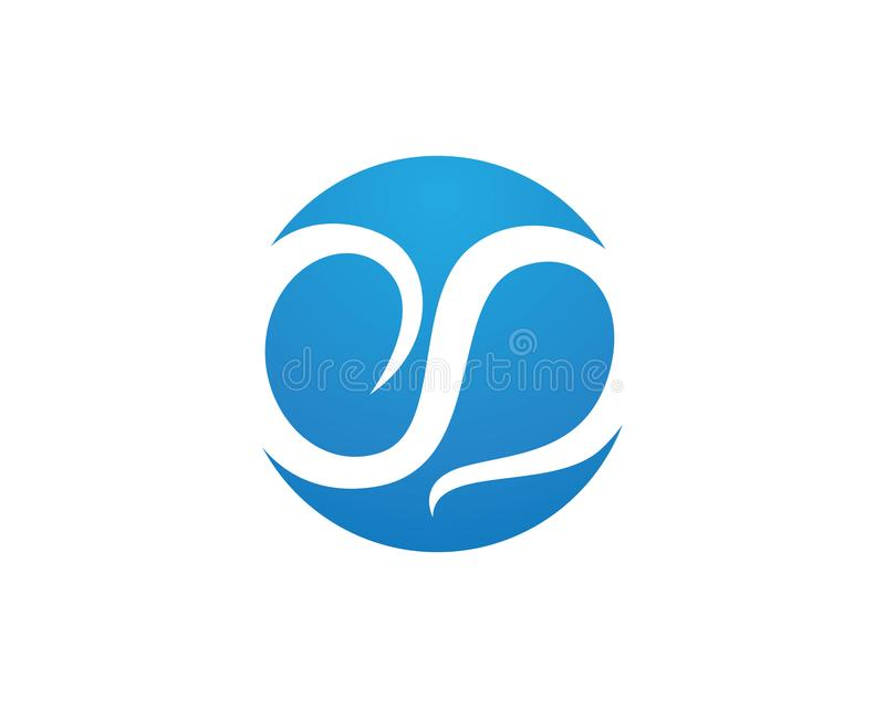 Waters logo Business corporate letter S logo design vector.  stock illustration