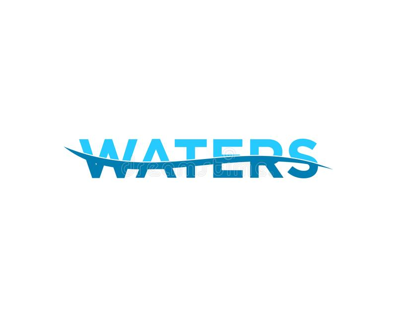 Waters Logo Template Vector Illustration Design. Waters Logo stock illustration