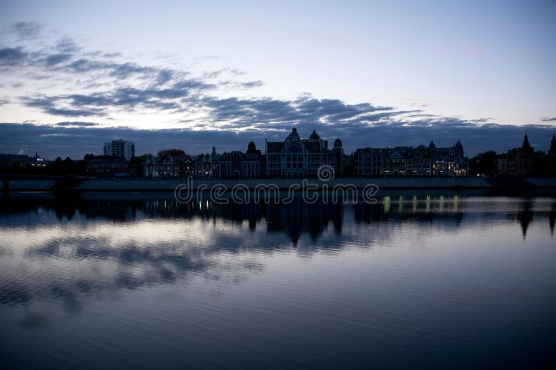 The embankment of Amsterdam stock images