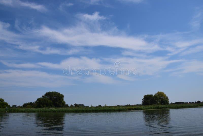 Waterscape в Бранденбурге, Германии стоковое изображение rf