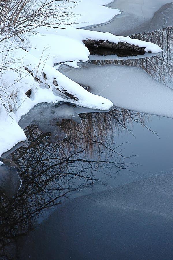 Download Waterscapevinter fotografering för bildbyråer. Bild av reflexioner - 512541