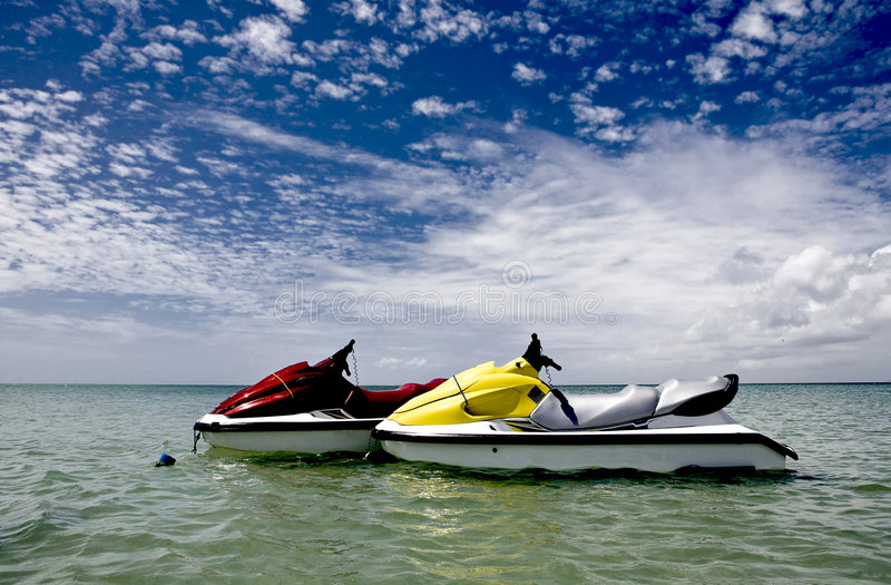 Download Waterscooters stock photo. Image of bright, oceanfront - 5152190