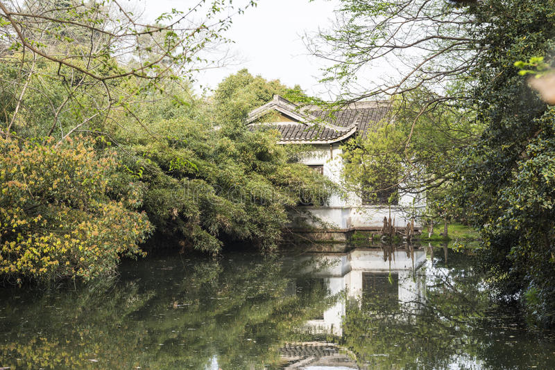 Waterside house royalty free stock images