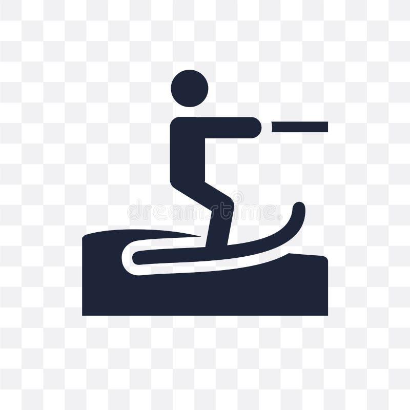 waterski透明象 waterski标志设计从夏天co 皇族释放例证