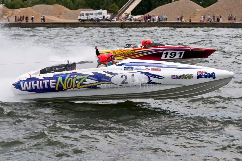 Waterski F1 Rennen lizenzfreies stockfoto