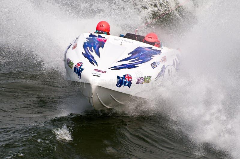 Waterski F1 Rennenboot lizenzfreie stockfotos