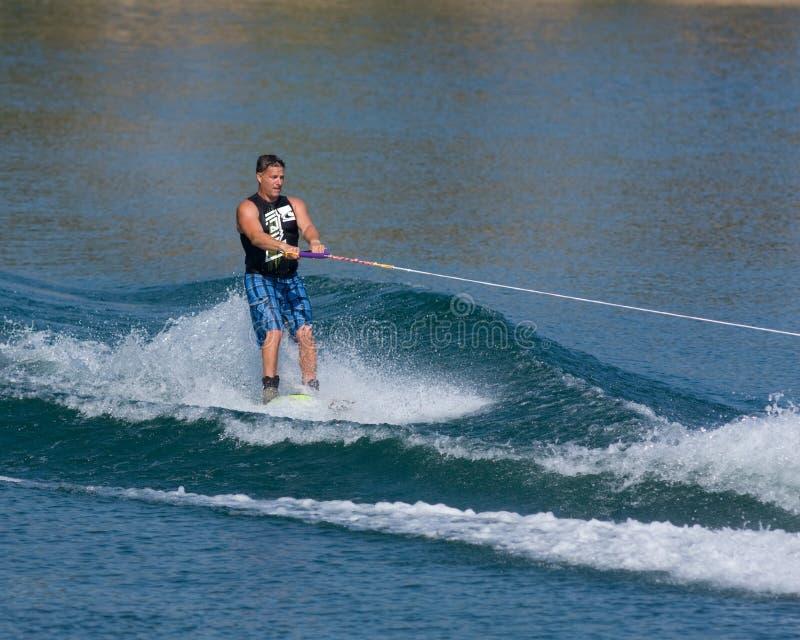 Waterskiier lizenzfreies stockfoto