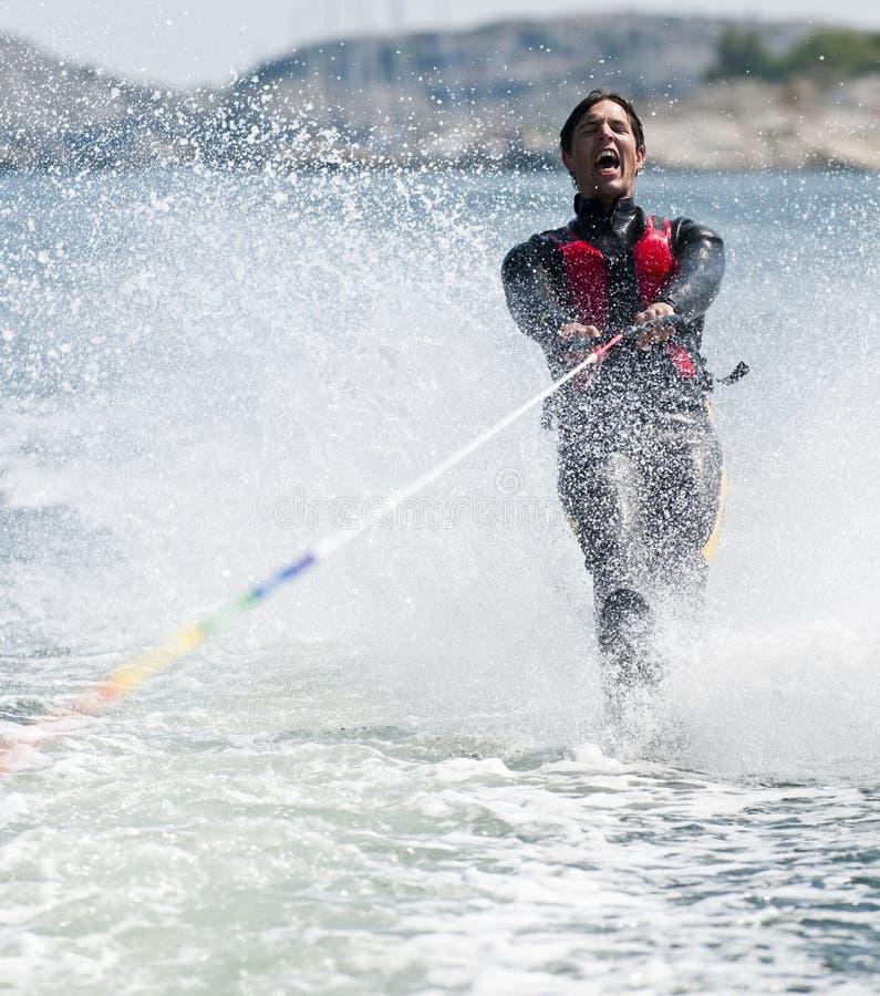 Waterskiiing foto de stock royalty free