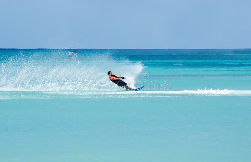 waterskiing 3 arkivfoton