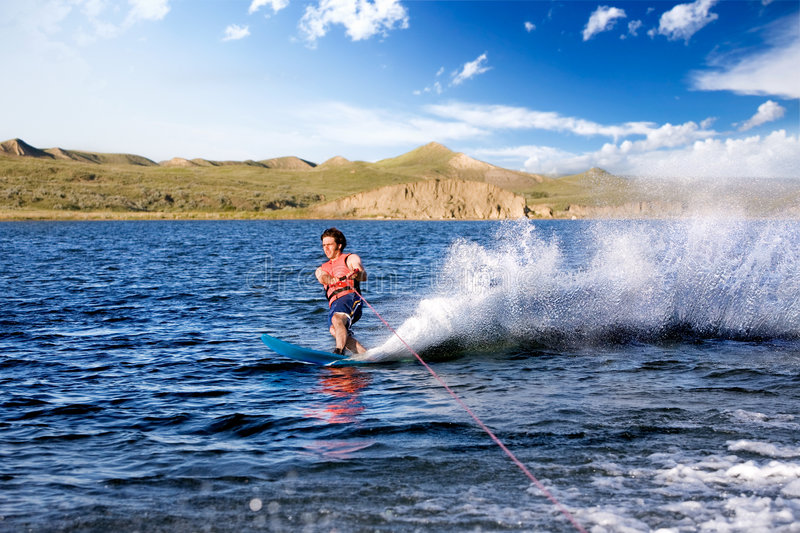 waterskiing fotografia royalty free