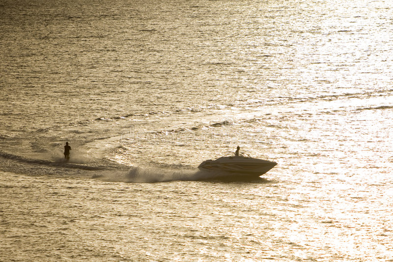 waterskiing obraz royalty free