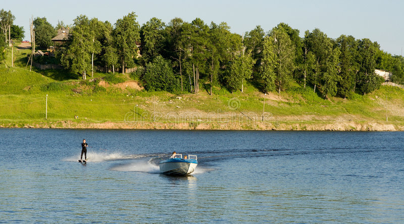 Waterskiing royalty free stock photos