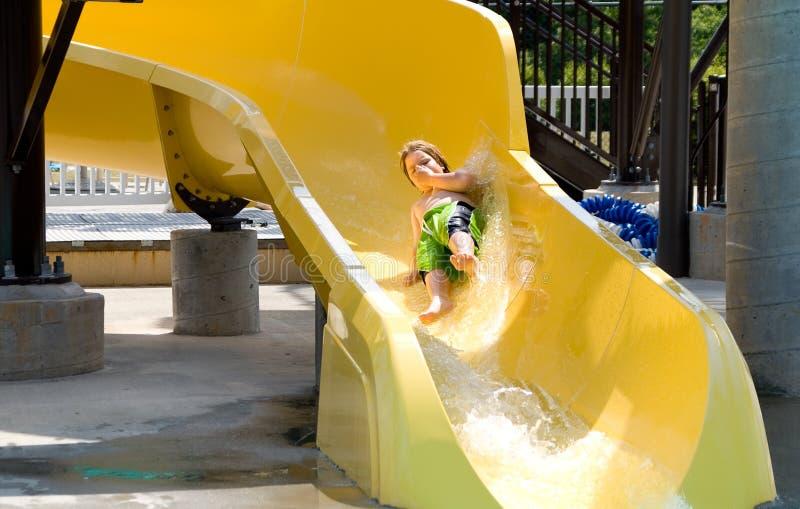 waterslide αγοριών στοκ εικόνες