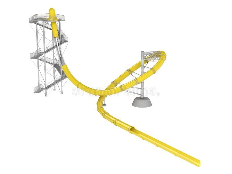 Download Waterslide κίτρινο απεικόνιση αποθεμάτων. εικονογραφία από πάρκο - 22779609