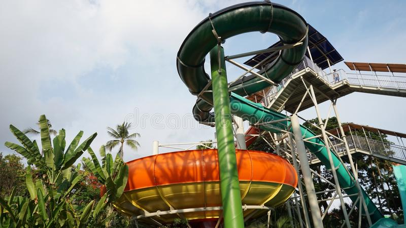 Waterslide dans Bali photo libre de droits