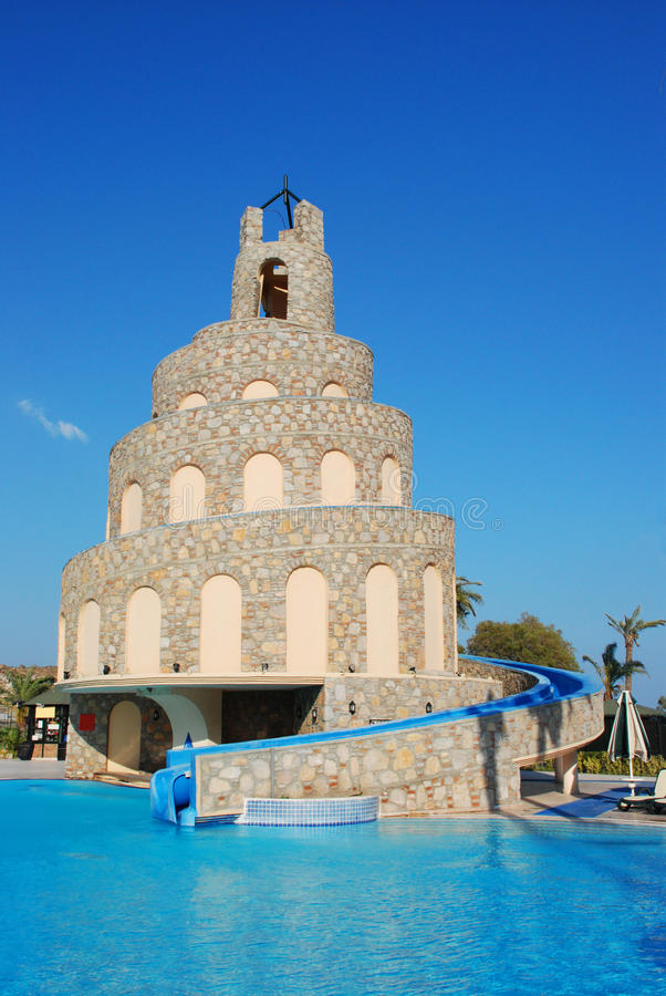 Download Waterslide And Swimming Pool Stock Image - Image: 11802161