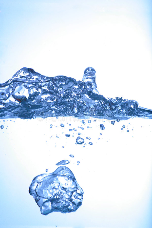 Watersplash fotografia de stock