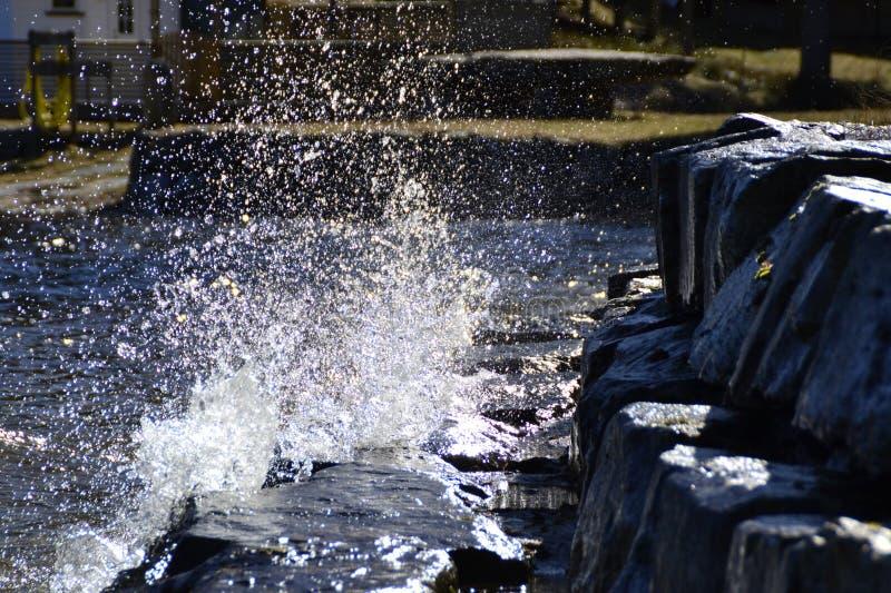 Watersplash stock photography