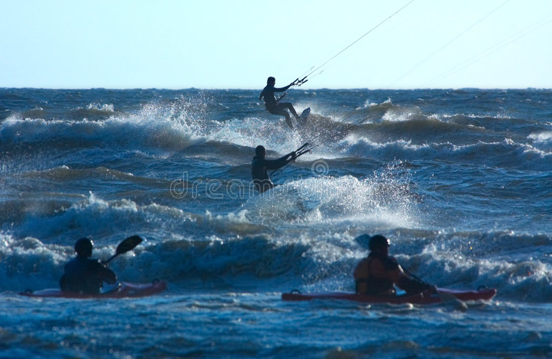 Watersports. In a storm royalty free stock photography