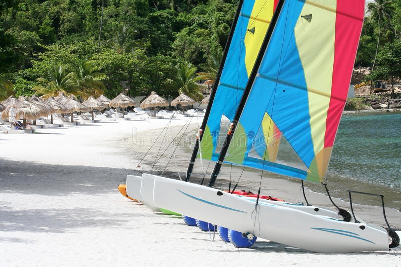 Watersports au St Lucia images stock