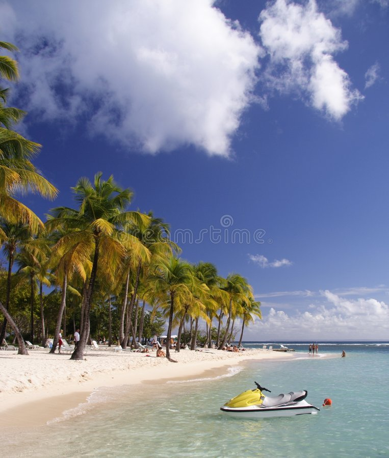 Watersports del Caribe fotografía de archivo