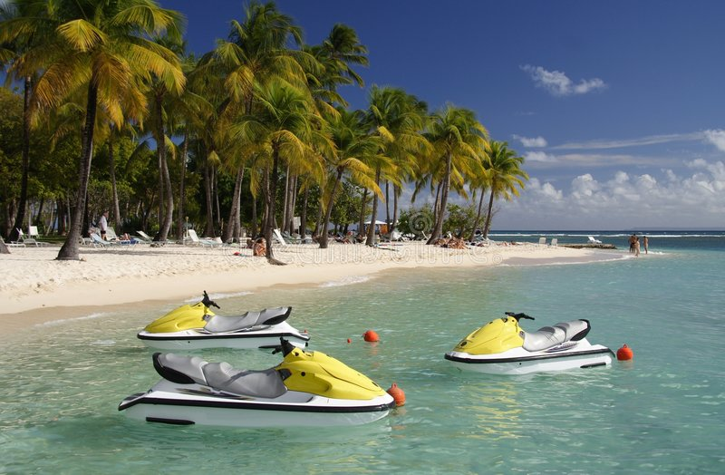 Watersports des Caraïbes images stock