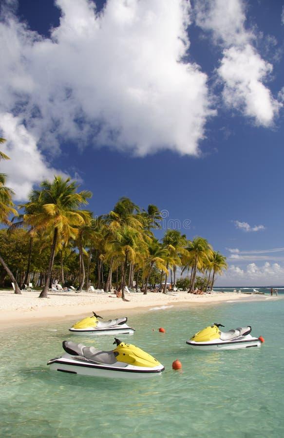 Watersports do Cararibe foto de stock