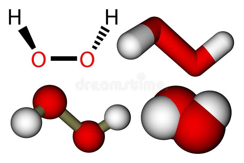 Waterstofperoxyde (H2O2) vector illustratie