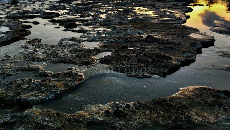 Waterstructuren royalty-vrije stock foto's