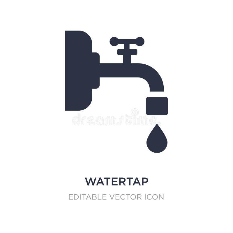 watertap pictogram op witte achtergrond Eenvoudige elementenillustratie van Algemeen concept vector illustratie
