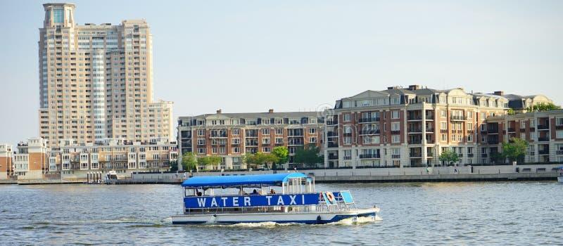 Watertaxi in Baltimore royalty-vrije stock fotografie