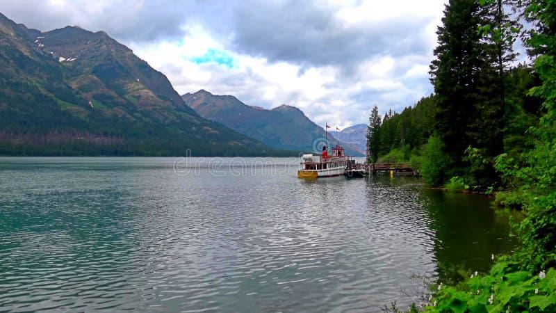 Waterton湖和冰川国立公园自然风景  库存图片