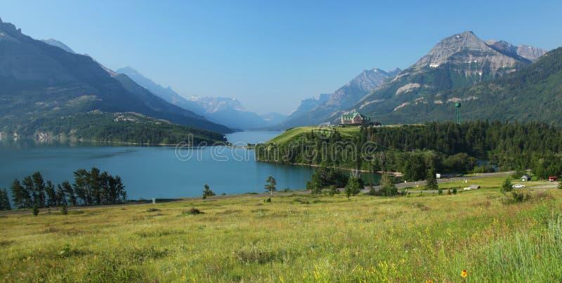 Waterton jeziora w Kanada fotografia royalty free