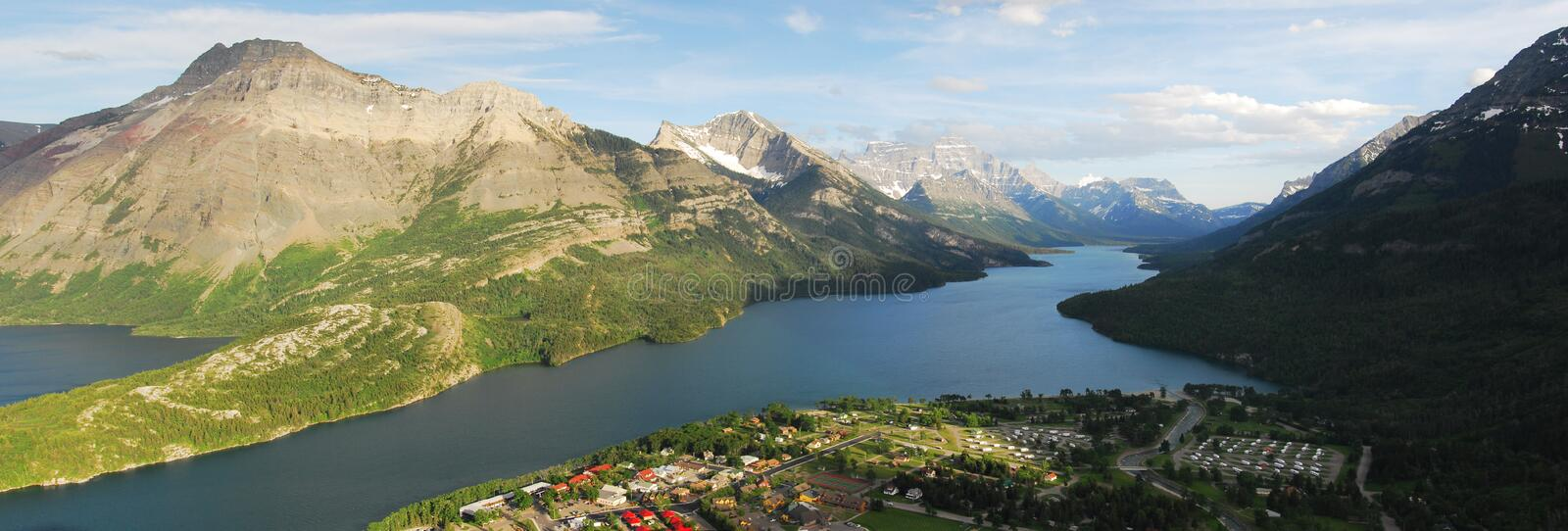 Waterton lakes national park stock images