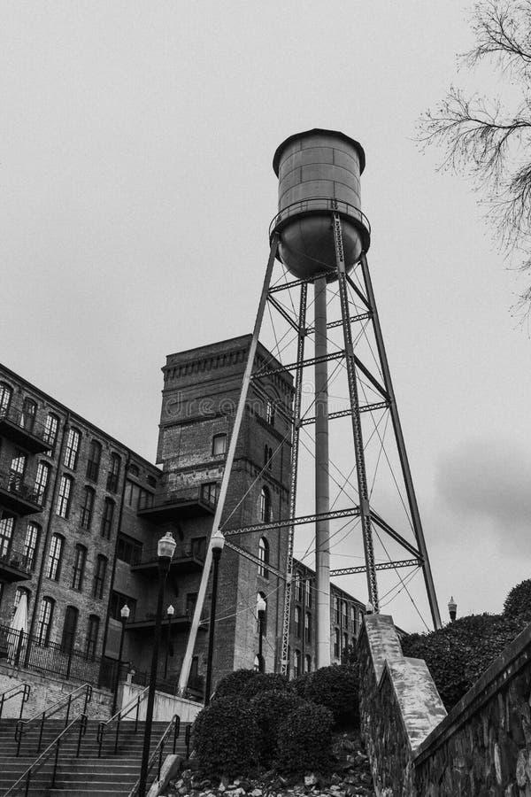 Watertoren in Columbus Georgia royalty-vrije stock foto