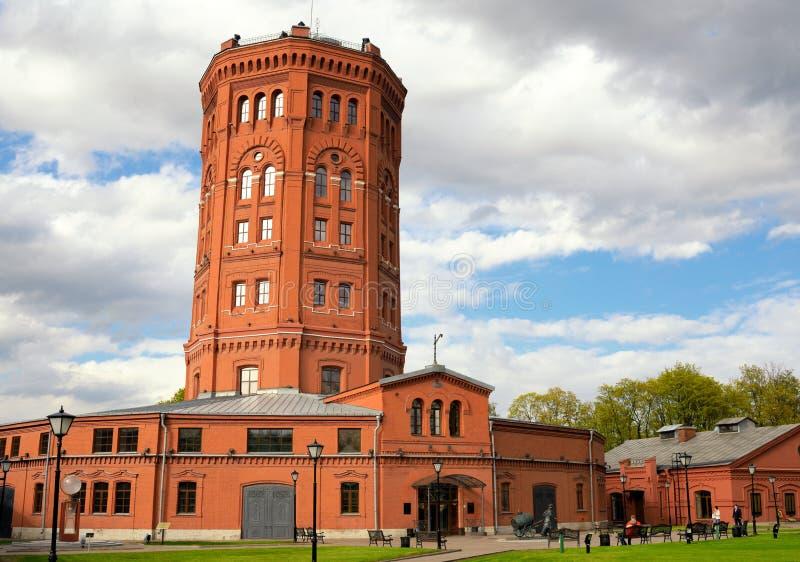 Watertoren, St. Petersburg, Rusland (Vodokanal-museum) royalty-vrije stock fotografie