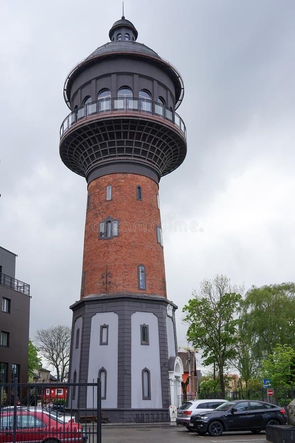 Watertoren in Zelenogradsk royalty-vrije stock foto's
