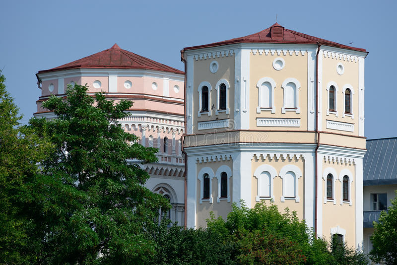 Watertorens Kasia & Basia, Grodno stock fotografie