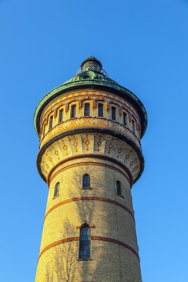 Watertower famoso in Biebrich, fotografie stock