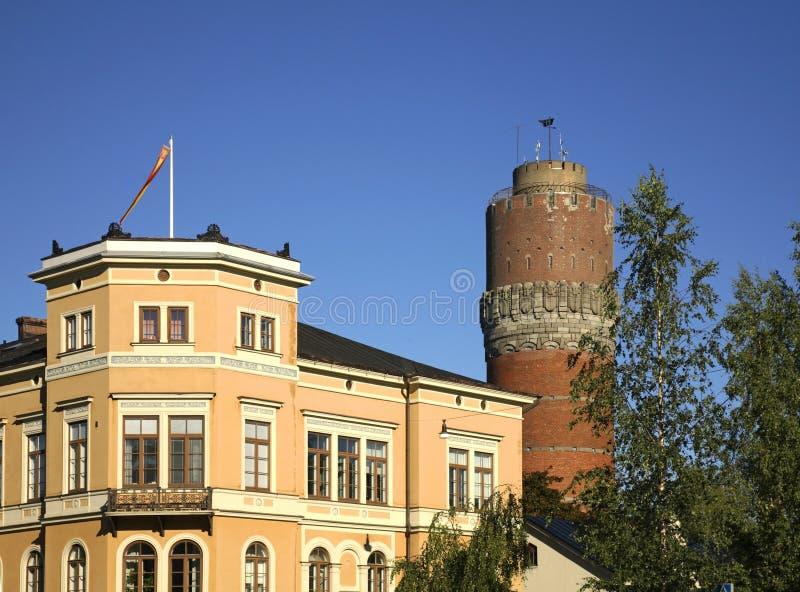Watertower nella città di Vaasa finland immagini stock